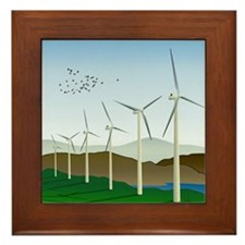 Wind Turbines Framed Tile
