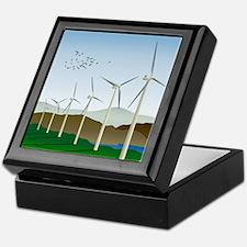 Wind Turbines Keepsake Box