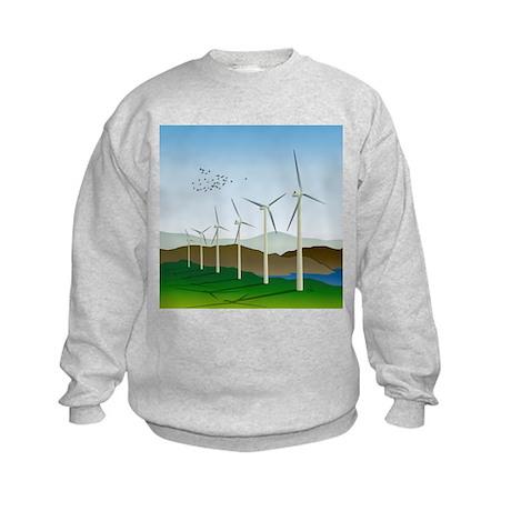 Wind Turbines Kids Sweatshirt