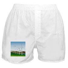 Wind Turbines Boxer Shorts
