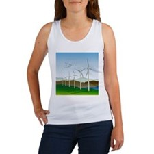 Wind Turbines Women's Tank Top