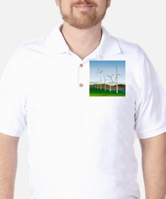 Wind Turbines Golf Shirt