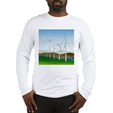 Wind Turbines Long Sleeve T-Shirt