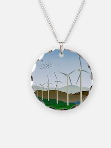 Wind Turbines Necklace