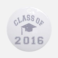 Class Of 2016 Graduation Ornament (Round)