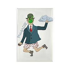 Art Magritte Funny Humor Rectangle Magnet