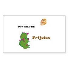 Powered by Frijoles Rectangle Decal