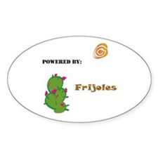 Powered by Frijoles Oval Decal