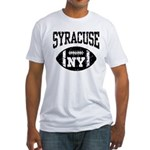 Syracuse NY Football Fitted T-Shirt