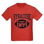 Syracuse NY Football Kids Dark T-Shirt