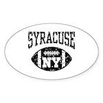 Syracuse NY Football Sticker (Oval)