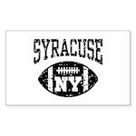 Syracuse NY Football Sticker (Rectangle)