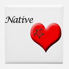 Native Honu Accessories Tile Coaster