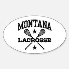 Montana Lacrosse Sticker (Oval)