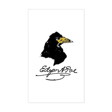 The Raven by Edgar Allan Poe Sticker (Rectangle)