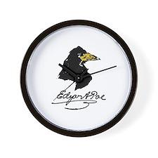 The Raven by Edgar Allan Poe Wall Clock