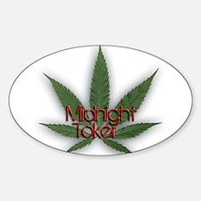 Midnight Toker Sticker (Oval)