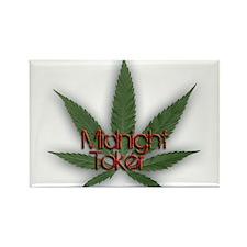 Midnight Toker Rectangle Magnet