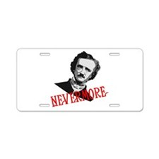 NEVERMORE by Poe Aluminum License Plate