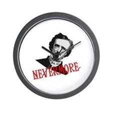 NEVERMORE by Poe Wall Clock
