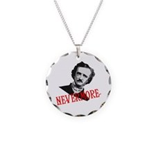 NEVERMORE by Poe Necklace Circle Charm
