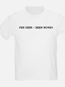 Per diem - Beer Money Kids T-Shirt