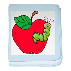 Wormy Apple Baby Blanket