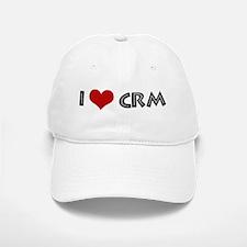 I Love CRM Baseball Baseball Cap