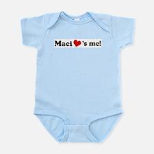 Maci loves me Infant Creeper