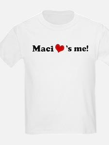 Maci loves me Kids T-Shirt