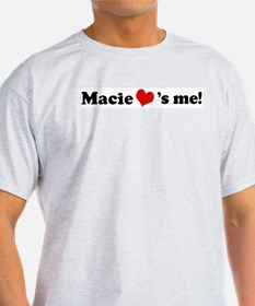 Macie loves me Ash Grey T-Shirt