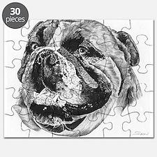 Bulldog Pencil Drawing Puzzle