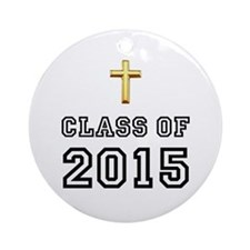 Class Of 2015 Cross Ornament (Round)