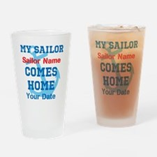 Customizable Sailor Homecomin Drinking Glass