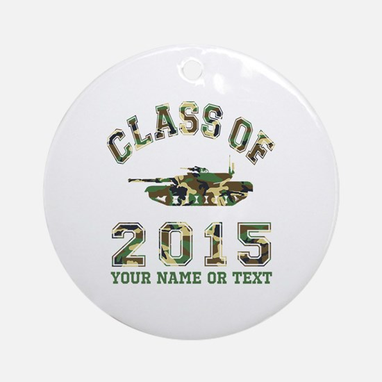 Class Of 2015 Military School Ornament (Round)