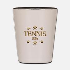 USA Tennis Shot Glass