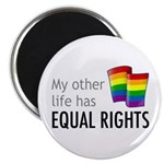 "My Other Life Rainbow 2.25"" Magnet (10 pack)"