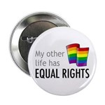 "My Other Life Rainbow 2.25"" Button (10 pack)"