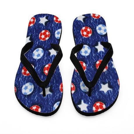 American Soccer Flip Flops