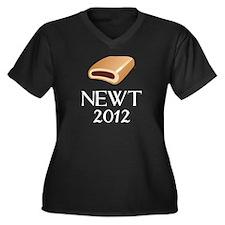 Newt 2012 Women's Plus Size V-Neck Dark T-Shirt