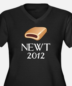 Newt 2012 Women's Plus Size V-Neck Dark T-Shirt