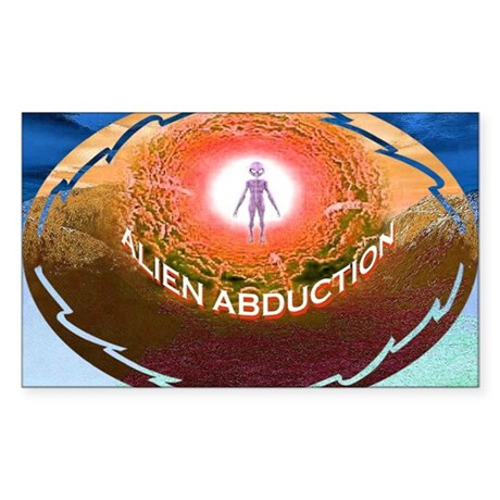 alien abduction Sticker (Rectangle)