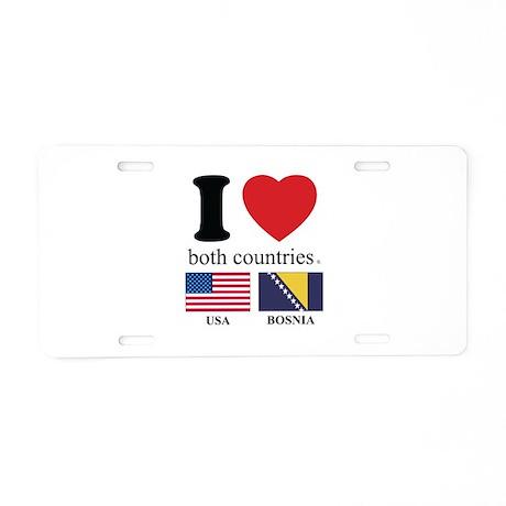 USA-BOSNIA Aluminum License Plate
