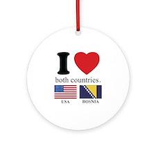 USA-BOSNIA Ornament (Round)