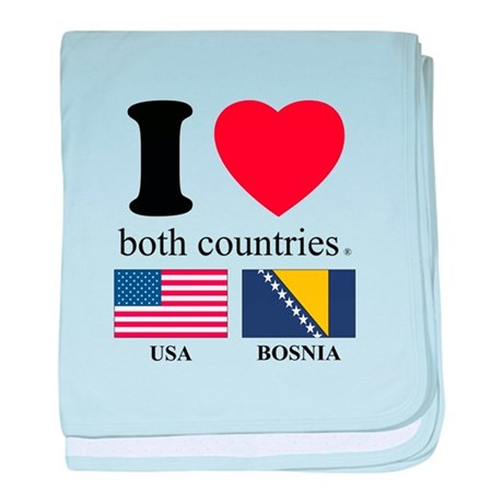 USA-BOSNIA baby blanket