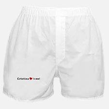Cristina loves me Boxer Shorts