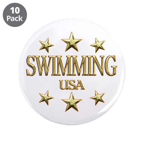 "USA Swimming 3.5"" Button (10 pack)"