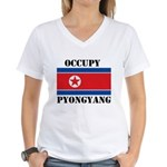 Occupy Pyongyang Women's V-Neck T-Shirt