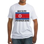 Occupy Pyongyang Fitted T-Shirt
