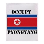 Occupy Pyongyang Throw Blanket